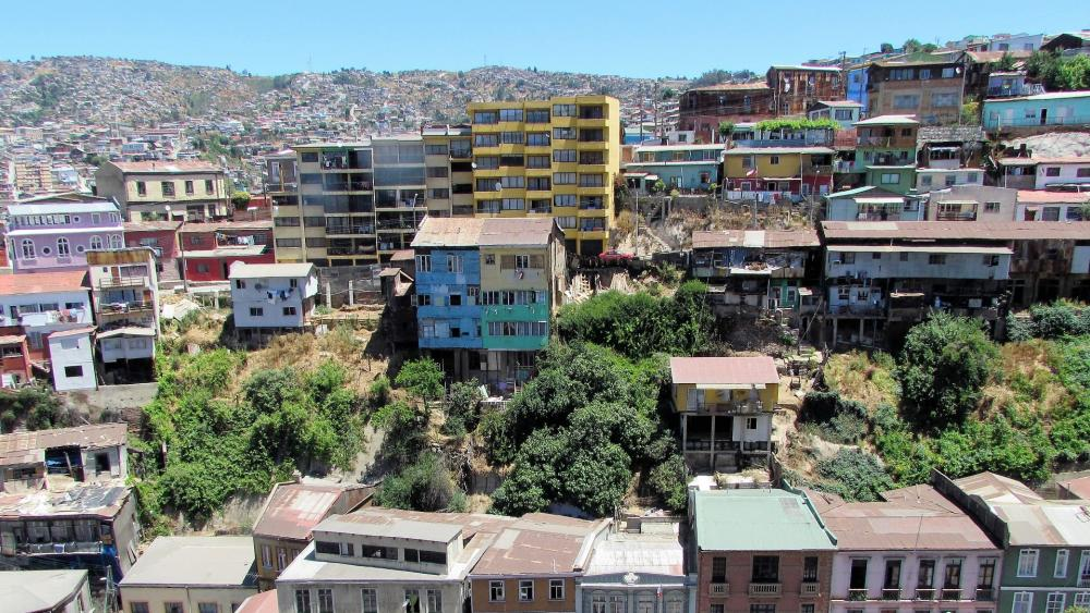 Old town of Val Paraiso wallpaper