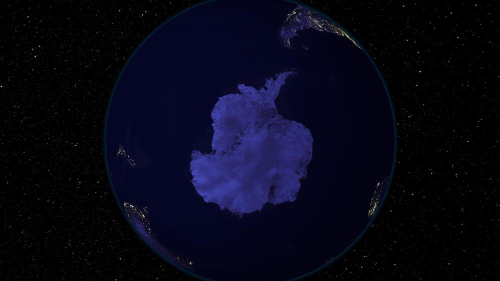 Light and Dark Image Pair: South Pole (Night) wallpaper