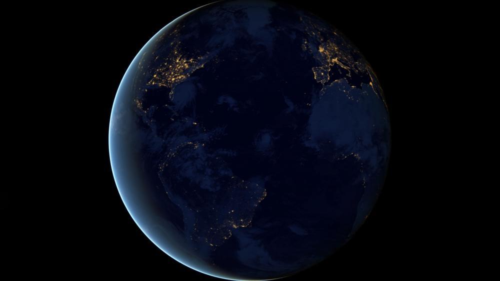 Night Lights 2012 - The Black Marble wallpaper