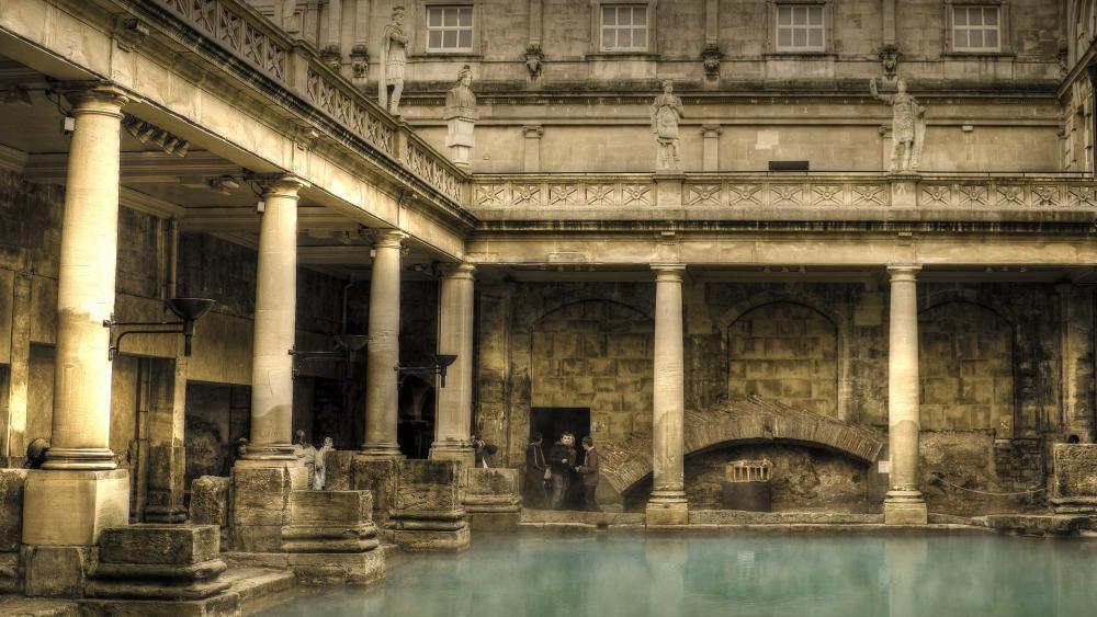 Roman Baths, Great Bath wallpaper