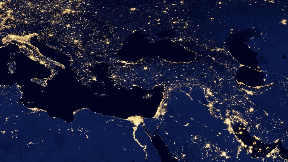 Night Lights of the Southeastern Europe, the Caucasus & the Levant wallpaper