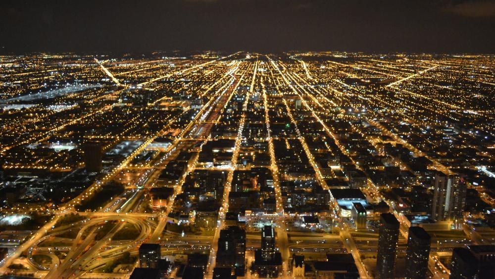 Chicago Nighttime Cityscape wallpaper