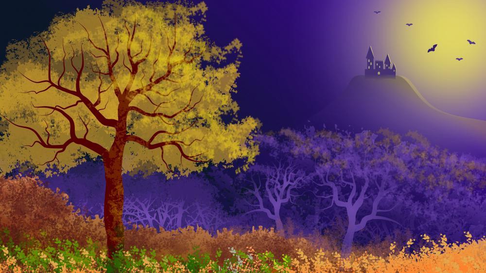Landscape Fantasy Illustration wallpaper