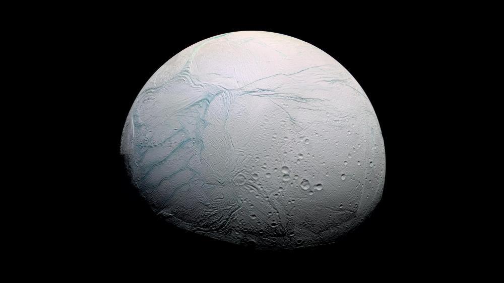 Enceladus, the moon of Saturn wallpaper