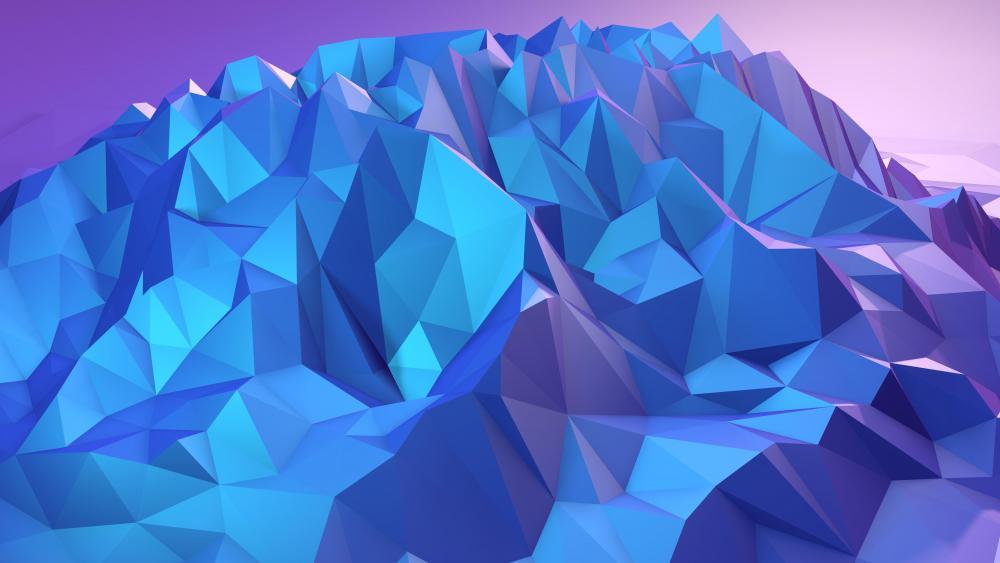 Low poly mountain wallpaper
