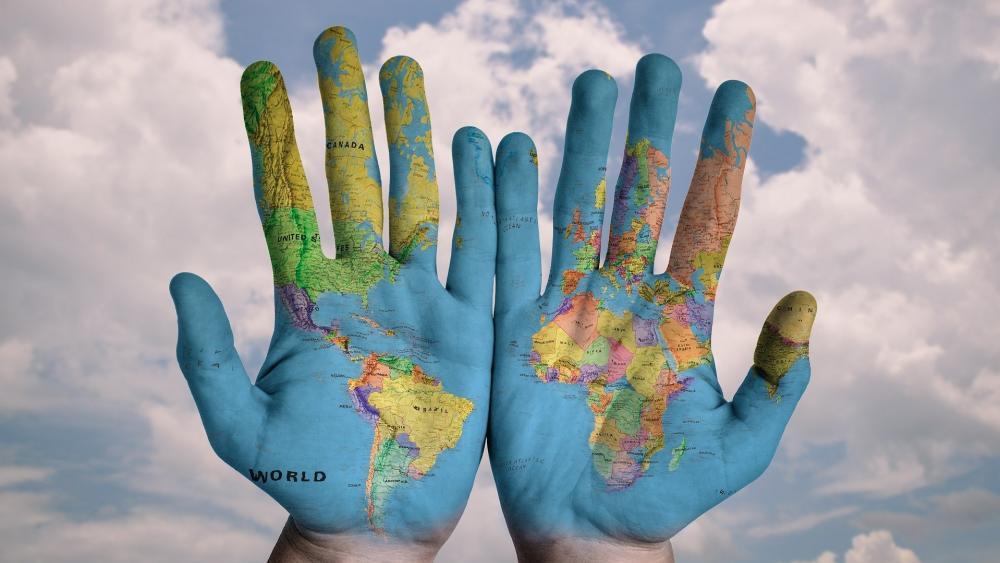 World in Hand wallpaper