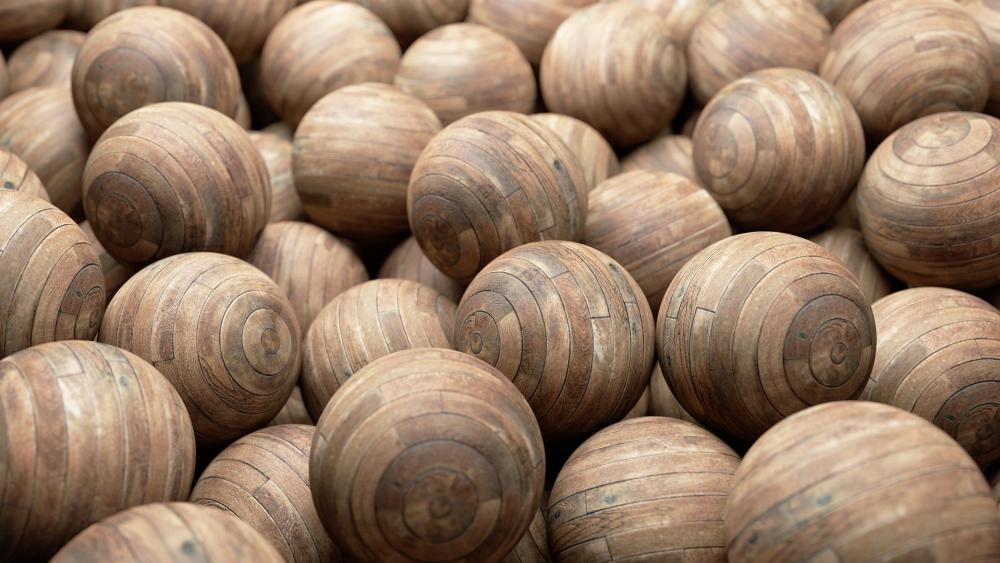 Wooden balls wallpaper