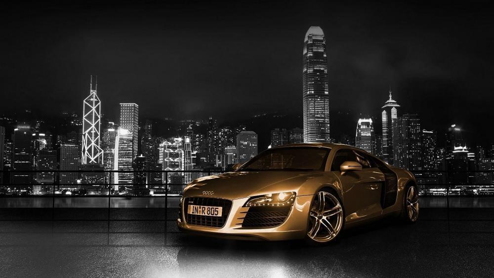 Gold Audi R8 wallpaper