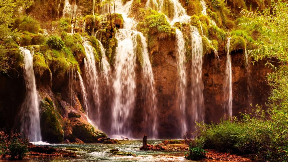 Great Waterfall, Plitvice Lakes National Park wallpaper