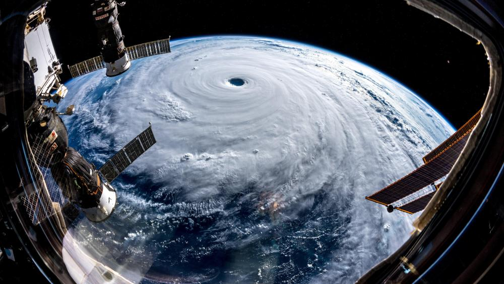 The International Space Station's View of Super Typhoon Trami wallpaper