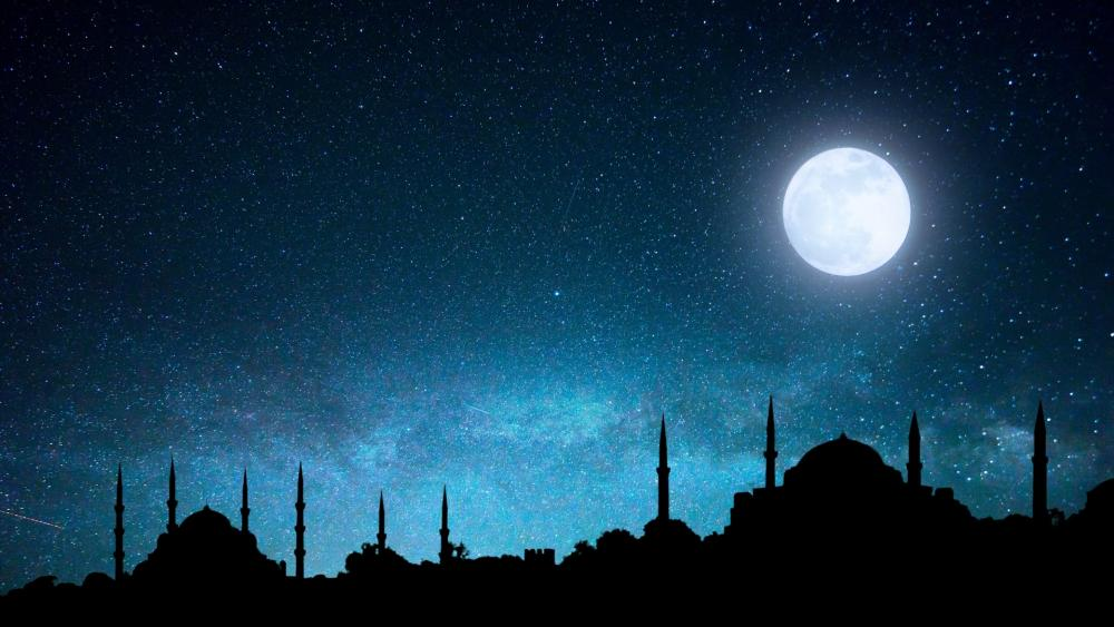 Istanbul Black Night wallpaper