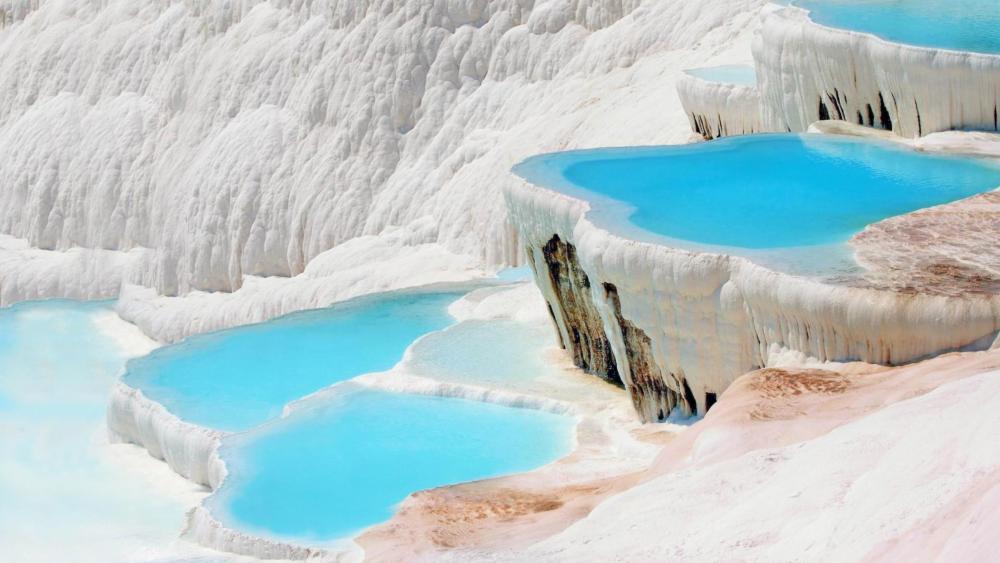 Pamukkale Thermal water wallpaper