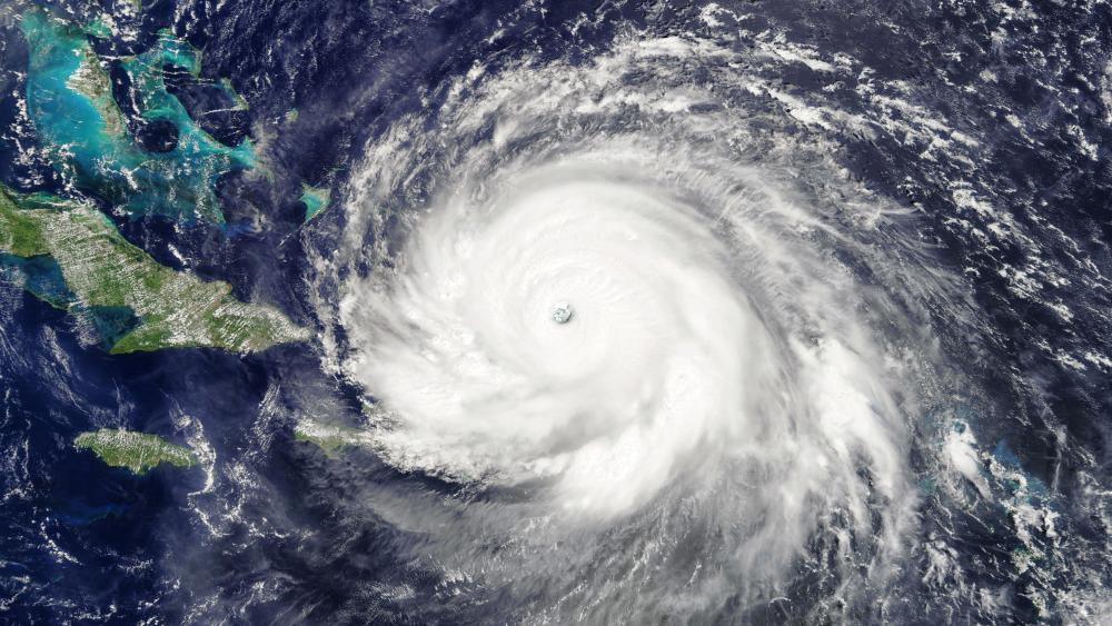 MODIS Image of Hurricane Irma wallpaper