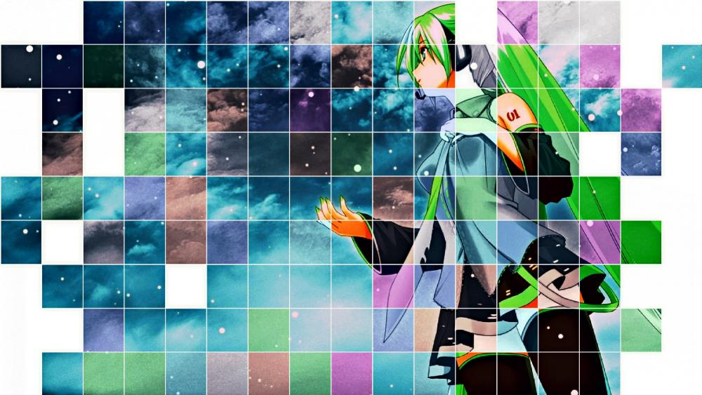 Vocaloid anime girl collage wallpaper