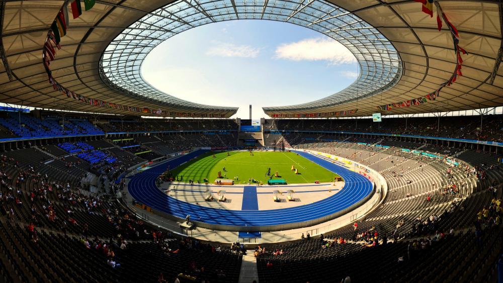 Panorama of Olympiastadion Berlin wallpaper