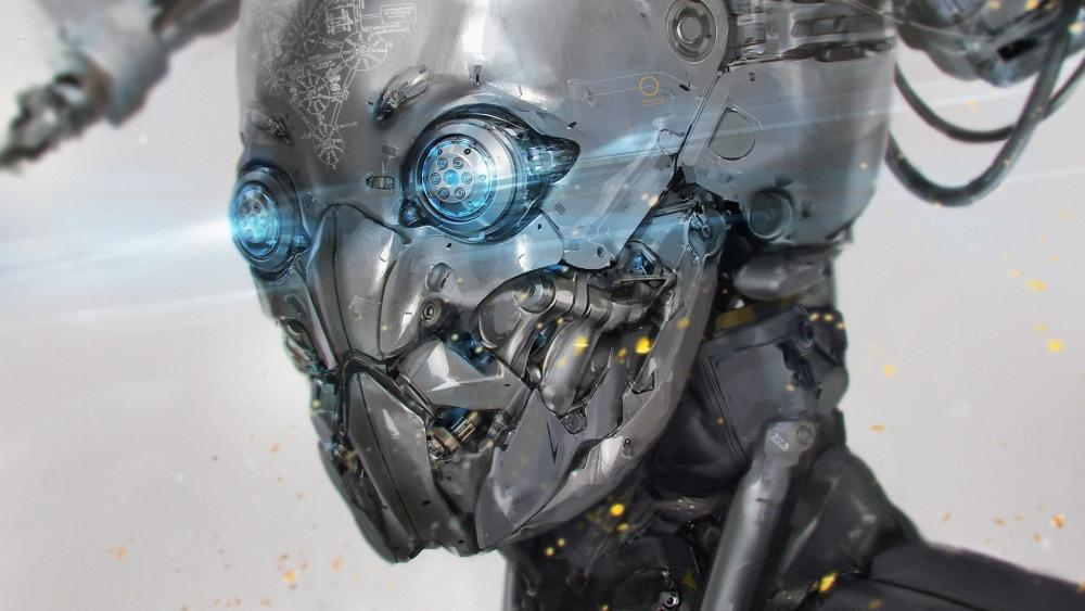 Robot sci-fi art wallpaper