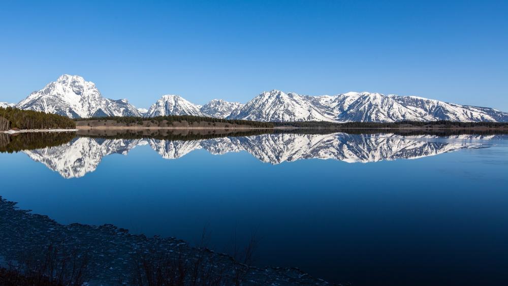 Grand Teton National Park reflection wallpaper