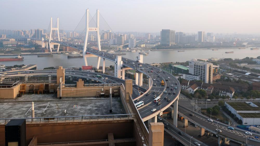 Nanpu Bridge in Shanghai, China wallpaper