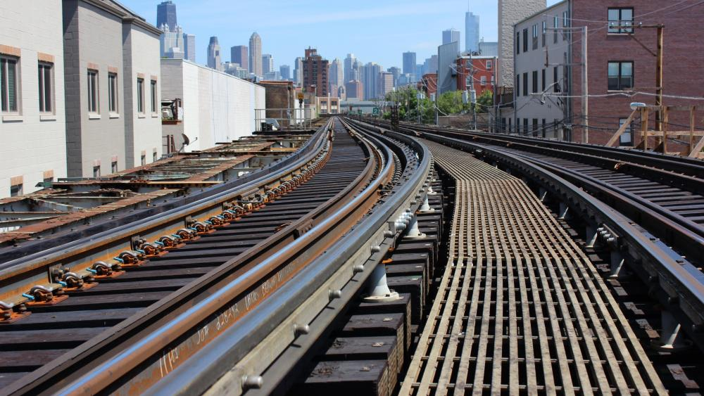 Train Tracks in Chicago wallpaper
