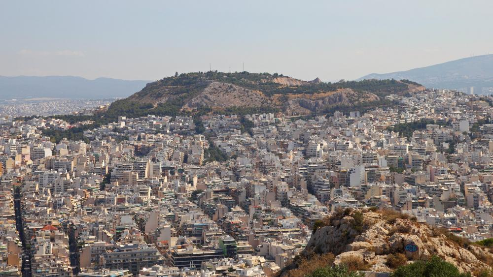 View from Lycabettus in Athens wallpaper