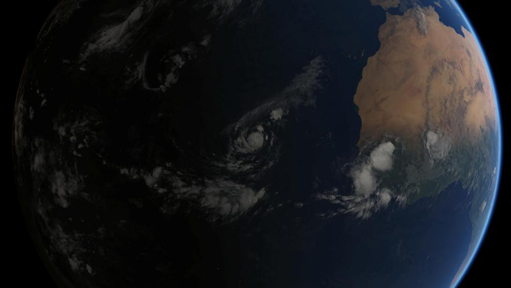 Composite Image of Tropical Storm Irma in the Atlantic, at 06:00 UTC on Thursday, 31 August 2017 wallpaper