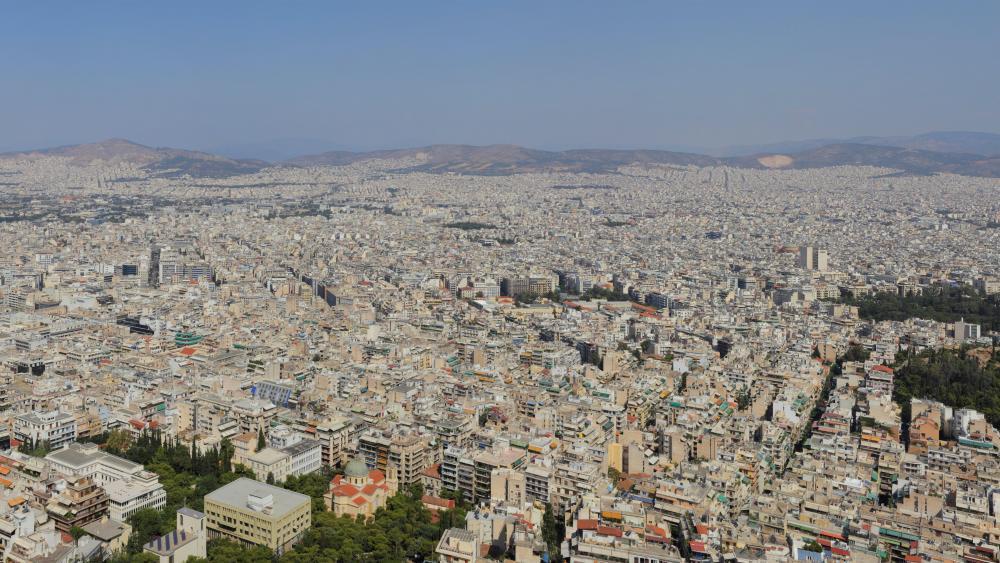 Panorama from Mount Lycabettus wallpaper