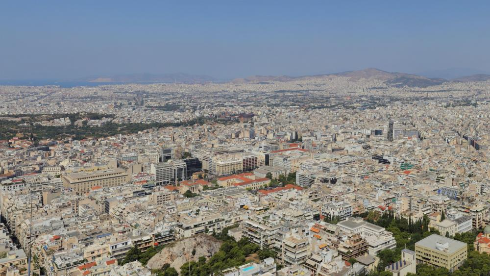 Panorama of Athens from Mount Lycabettus wallpaper