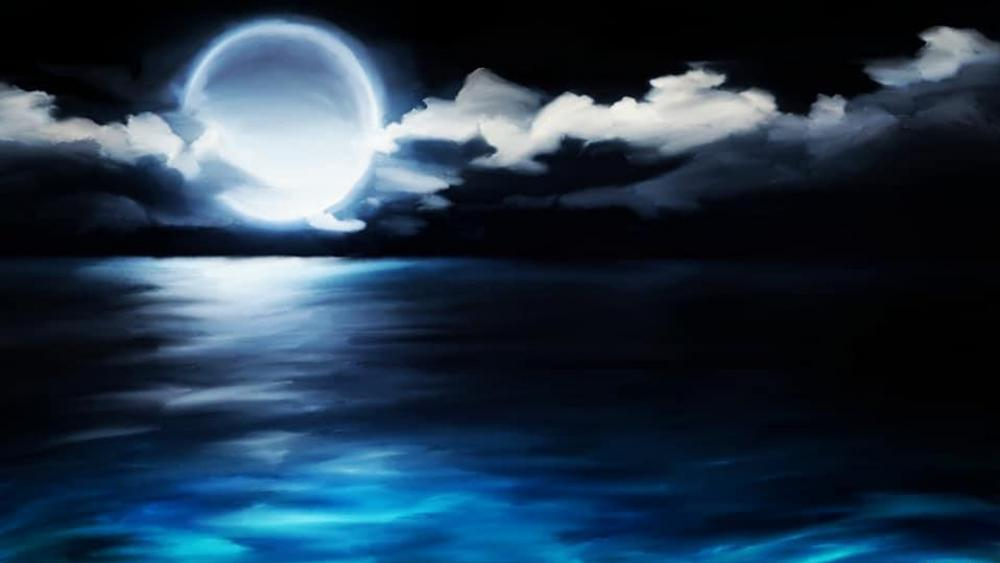 Ocean at night wallpaper