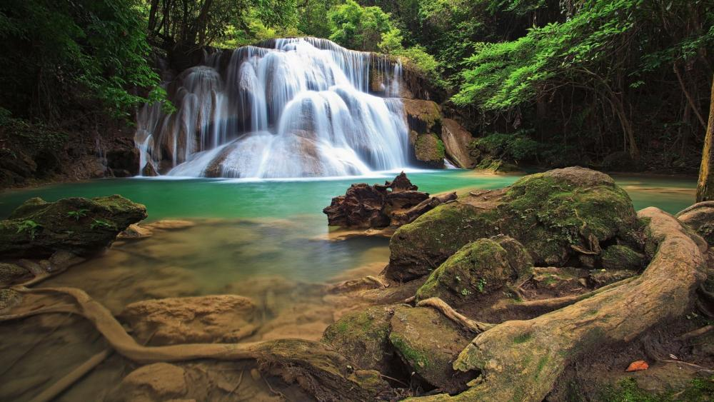 Huai Mae Khamin Waterfall wallpaper