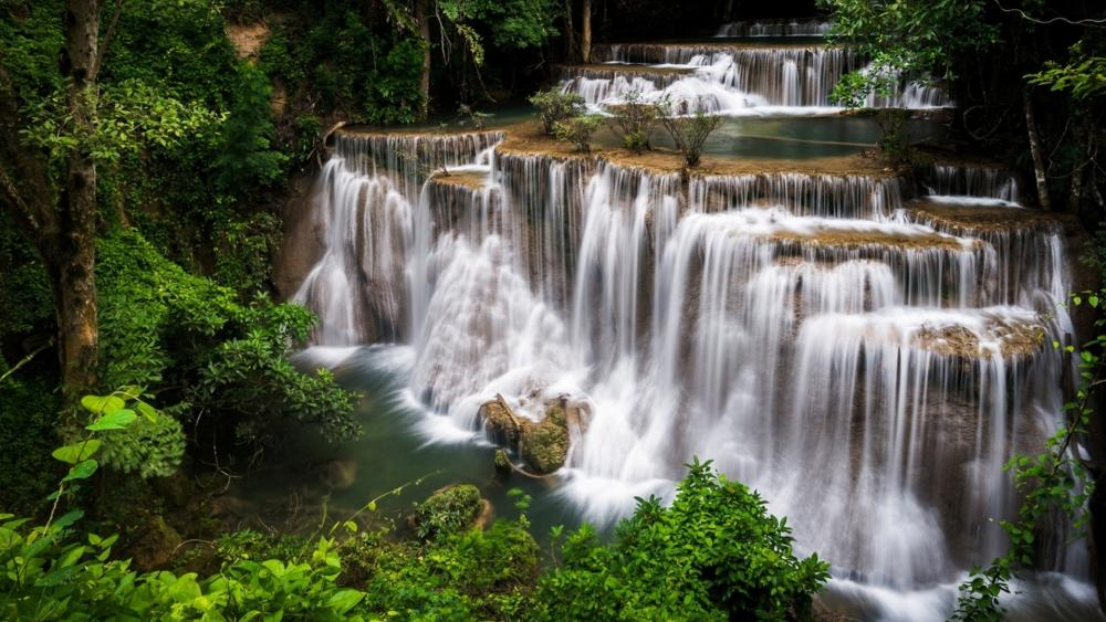 Huai Mae Khamin Waterfall wallpaper