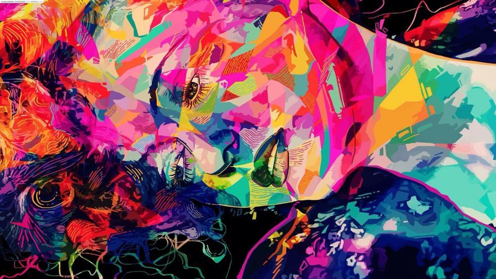 Abstract woman wallpaper