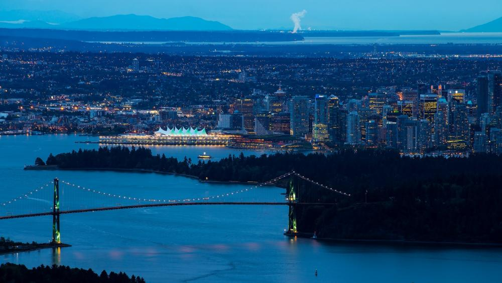 Lions Gate Bridge, Vancouver wallpaper