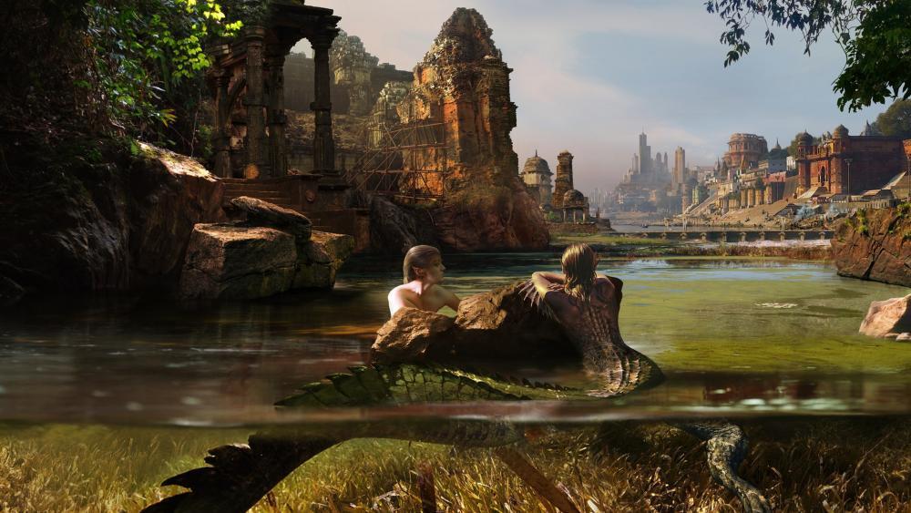 Mermaid fantasy art wallpaper
