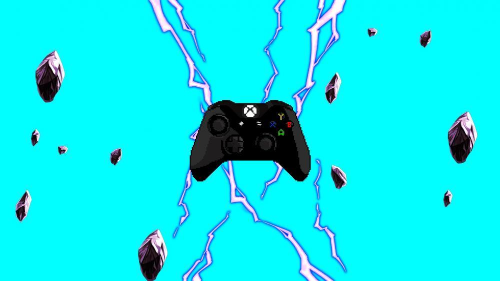 Xbox One Controller blue wallpaper