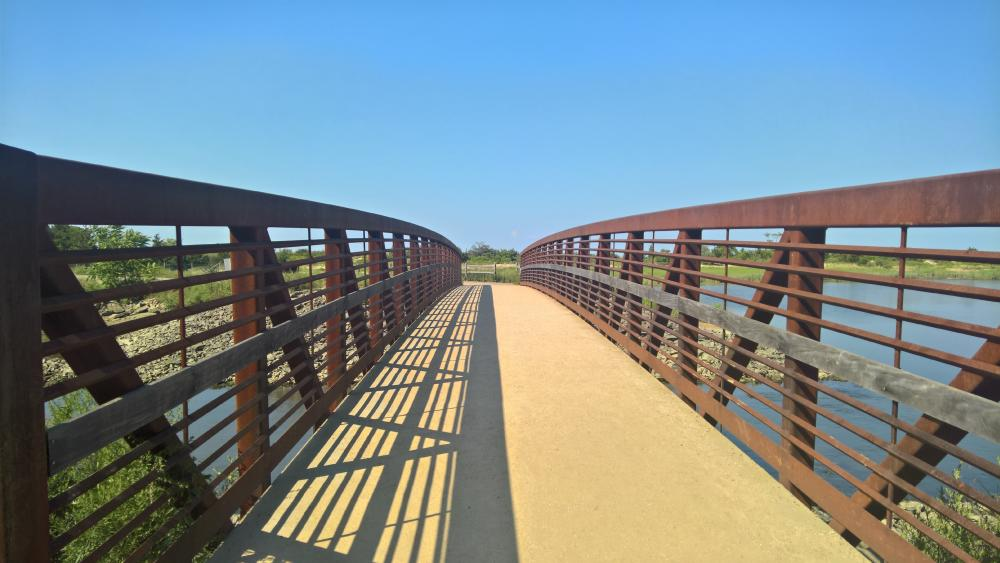 Bridge at Sunken Meadows State Park wallpaper