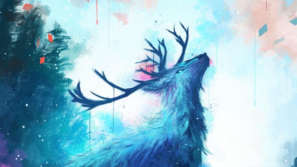 Blue Deer wallpaper