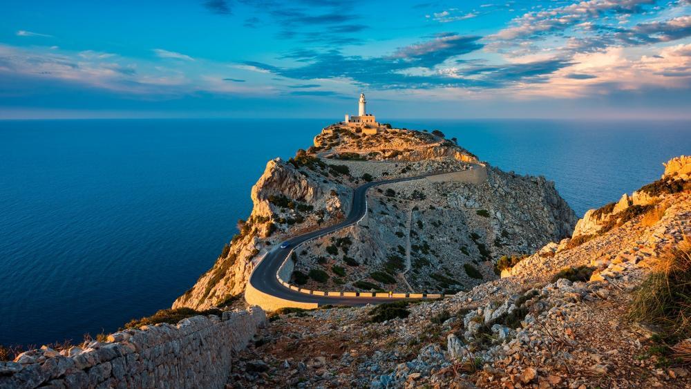 Lighthouse of cap de Formentor, Spain wallpaper