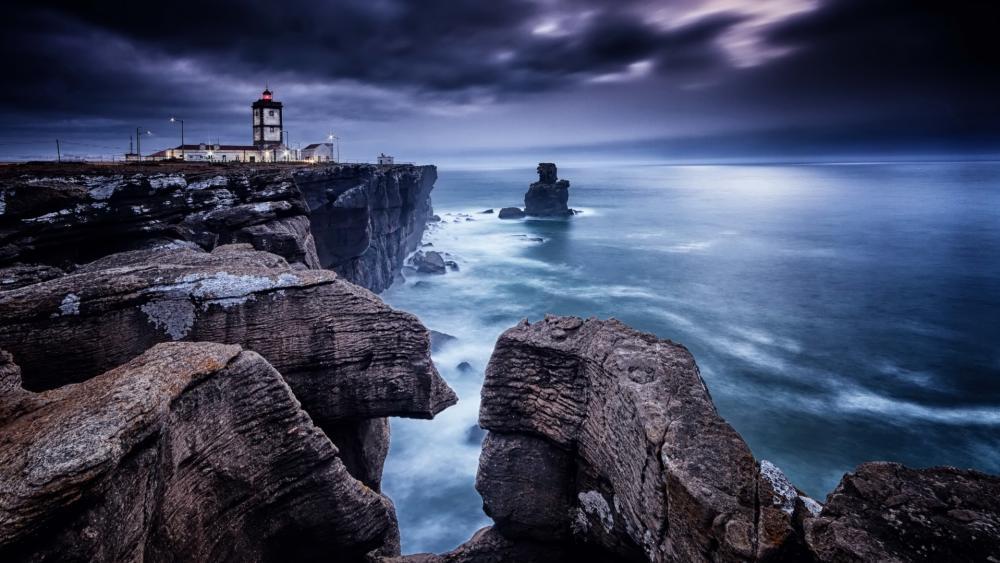 Cabo Carvoeiro Lighthouse wallpaper
