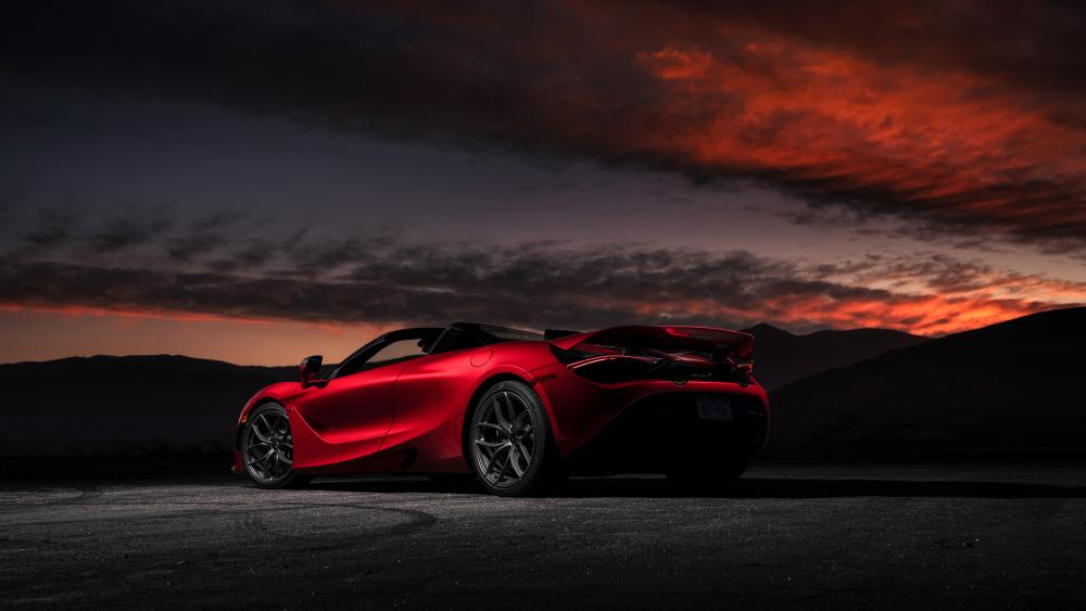 Red McLaren 720S wallpaper
