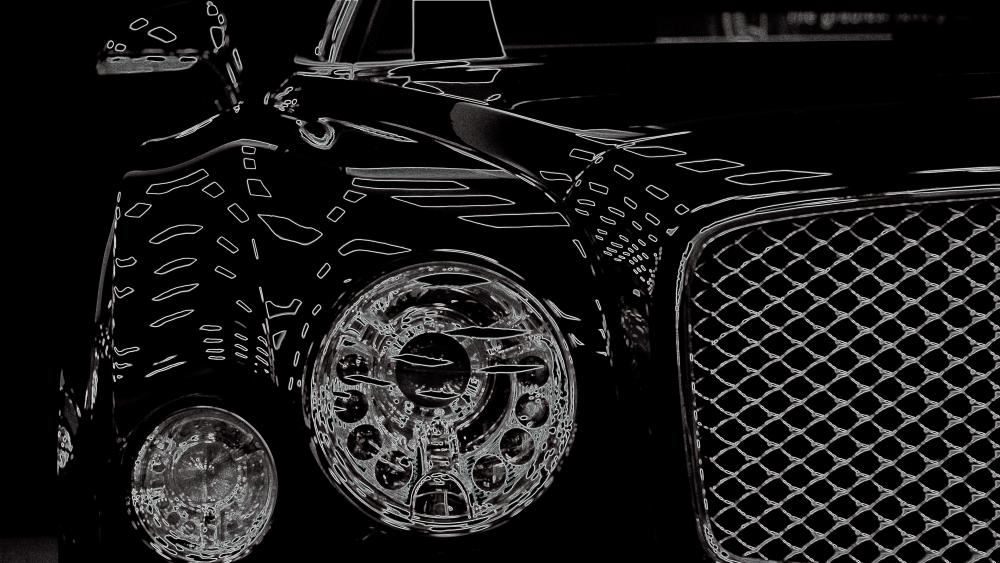 Bentley Monochrome Digital Art wallpaper