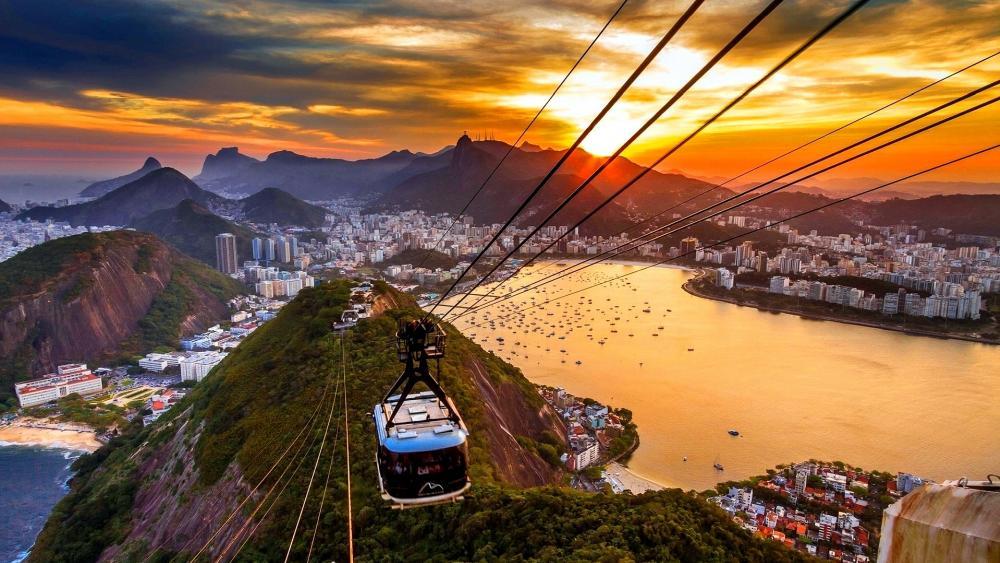 Rio de Janeiro cable car wallpaper