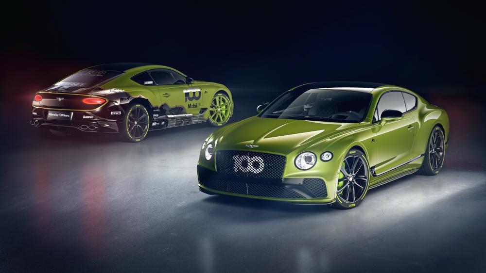 Green Bentley Continental GT Pikes Peak wallpaper