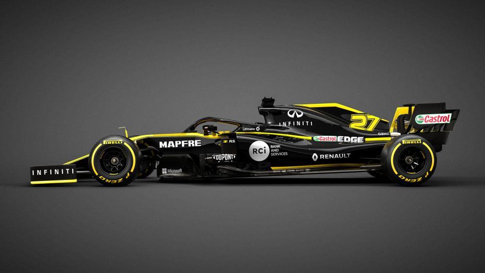 Renault F1 racing car 2019 wallpaper