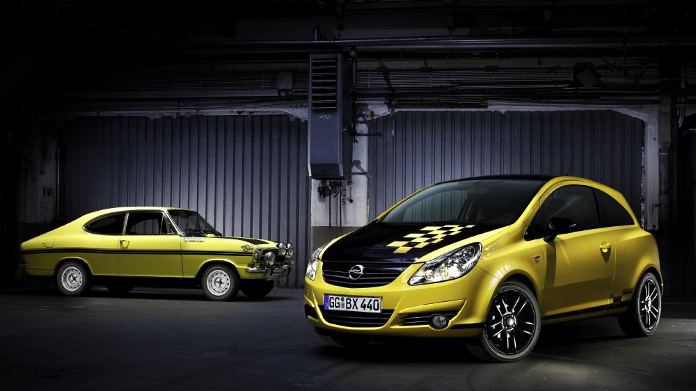 Opel Corsa then and now wallpaper