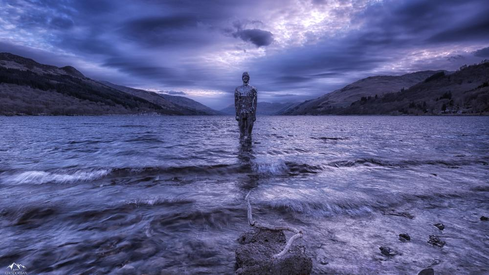 Spiritual water statue fantasy art wallpaper