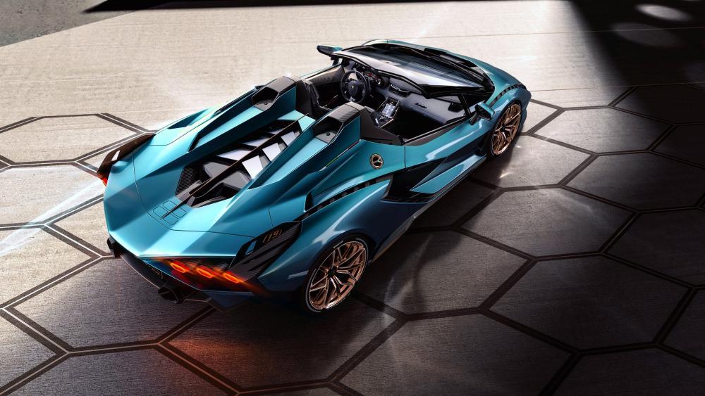 Lamborghini Sián hybrid roadster wallpaper
