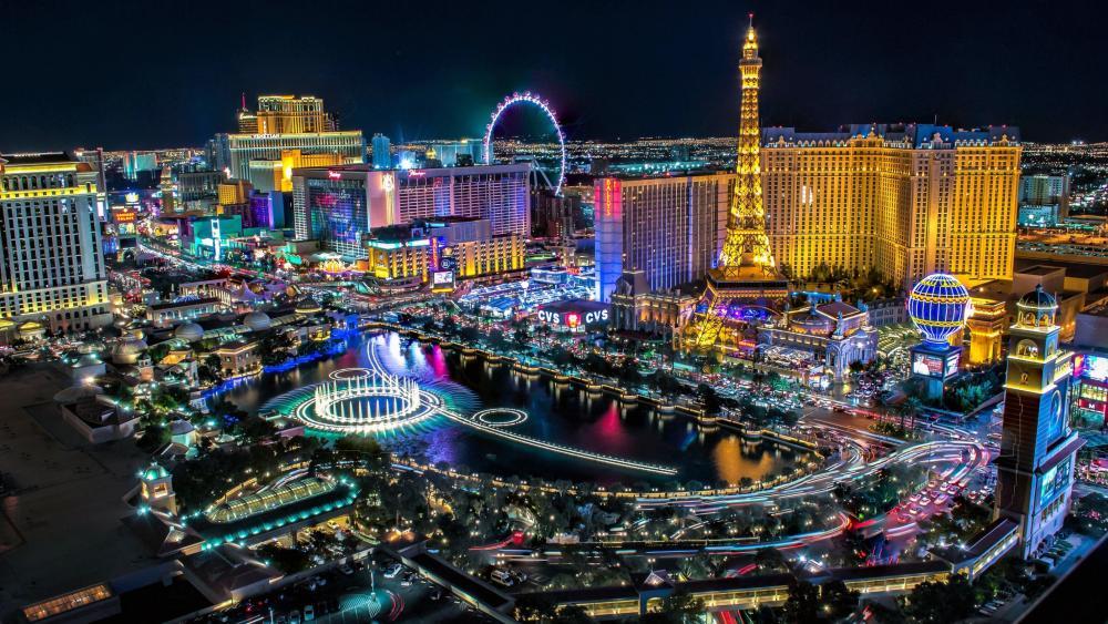 Las Vegas night skyline wallpaper