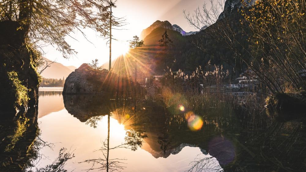 Hintersee reflection wallpaper