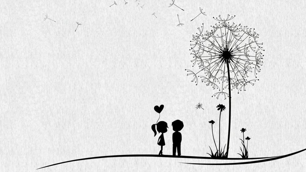 Simple romance wallpaper