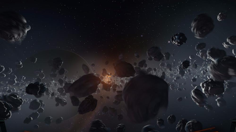 Asteroid belt wallpaper